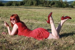 Fee-Tish Stock : Retro Pin-Up Red II by fee-tish-stock