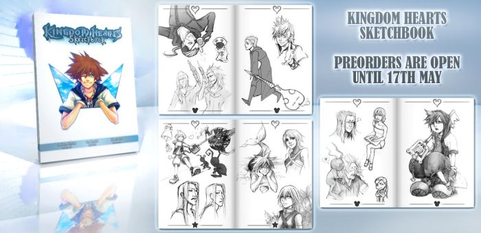 KH SKETCHBOOK-PREORDERS by Lapis-Razuri