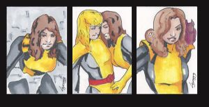 Shadowcat SketchCards by TeamAmazing