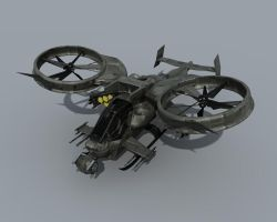 Scorpion Gunship-studio render by DudQuitter