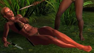 jungle girl in distress by vesubio79dc