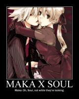 Maka x Soul Demotivational by AceArtist27
