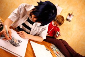Bakuman - at work by Jealles