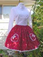 Red heart skirt by The-Cute-Storm