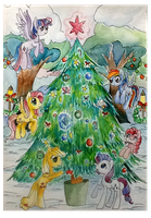christmas tree by mapony240