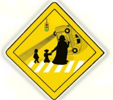 Children crossing Vader style by DarthDrakkara