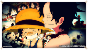 One Piece - Ace e Luffy - Brothers by TumateOP