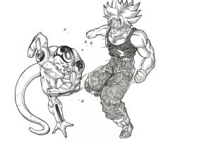 Trunks vs Frieza by bloodsplach