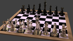 3D Blender Cycles Chess Set by PyroDragoness