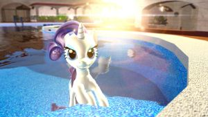 Rarity on Vacation by Legoguy9875