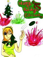 Gift:Happy holidays~ by Blue-Fire-likes-pie