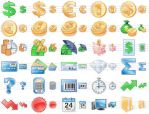 Business Toolbar Icons by yourmailkept
