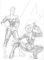 08022013 3 Capmarvelblackwidow by guinnessyde