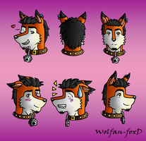 Dave faces by Wolfan-foxD