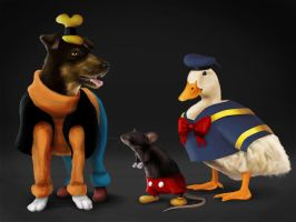 Epic Mickey, Donald And Goofy by lizzy1e
