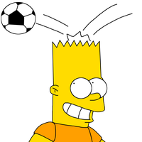 Bart kicks soccer ball by his head by ElMarcosLuckydel96