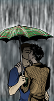 SPN - Stand Under My Umbrella by bucketmouse
