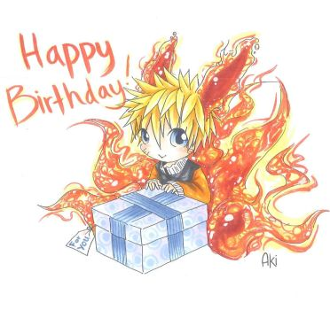 Chibi- Naruto- Happy B-day by sabakugaara