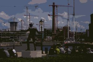 johnny fury on the docks by poupon82