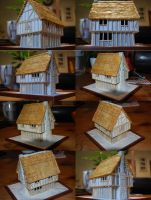 25mm Half-Timbered Houses Under Construction by yereverluvinuncleber