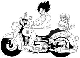 DBZ on motorcycles: Vegeta by Dbzbabe