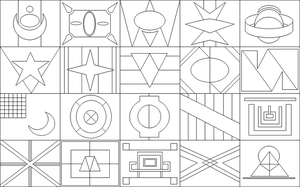 Misc. Flag Lineart by drachenlilly