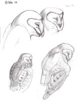 Sleepy Barn owl study by Reptangle