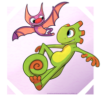 Yooka and Laylee by Cheshiresdesires