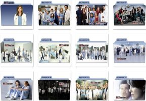 Grey's Anatomy Folder Icons by nellanel