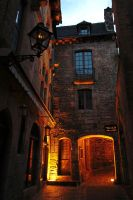 Warm Light in a Lithe Street by Lissou-photography