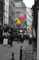 London No. 4 - Color Splash by Art-4-EM