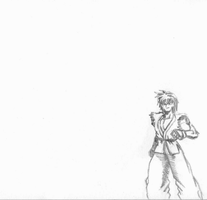 Ryu vs Ken flipbook animation by Balthazar321