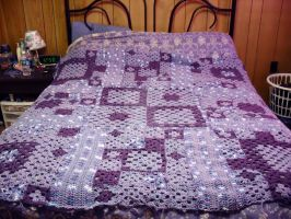 Granny Square blanket by bluedragonstudio