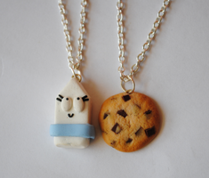 Milk and cookies necklaces by ClayRunway