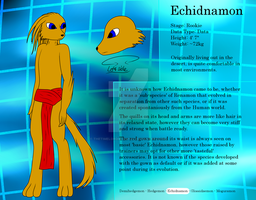 Echidnamon reference sheet by TheTimeLordMarshal