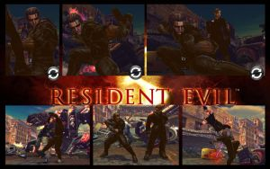 SF X TEKKEN Raven as Albert Wesker from RE5 by monkeygigabuster
