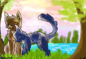 Bluefur and Oakheart by DarkArtemis666