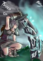 Riven Quick Sketch - Rias by CreativeSubstance