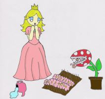 Peaches Piranha Plant Perils by Vampenxwitch