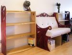 Bench and Bookcases by HelenHighwater