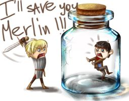 merlin in bottle by SurOvOsova