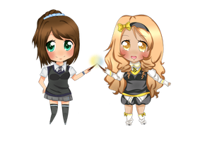 -Comm- Chibi Hogwarts friends by Mara-n