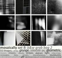 Icon Texture Set 9: Black and White Grab Bag #2 by happyharper13