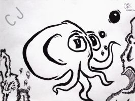 Octopus Cartoon by stand87