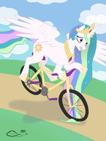 Celestia's Unfortunate Ride by The-Emerald-Otter