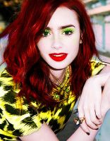 Lily Collins by spasojevicsara