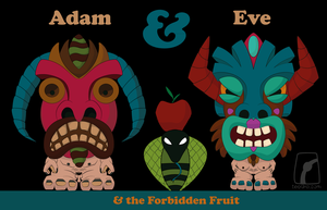 Adam, Eve and the Forbidden Fr by leographics