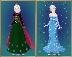 Queen Elsa's Wardrobe by LadyAquanine73551