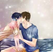 MakoHaru: Goodnight Kiss by Iwonn