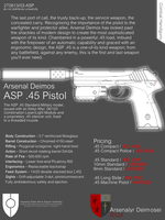 ASP .45 Sales Poster by SixthCircle